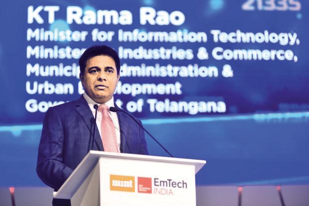 KT Rama Rao - Minister of Information Technology Telangana