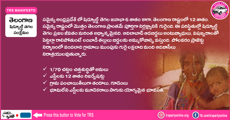 TRS-Party-Manifesto-for-ST-Welfare
